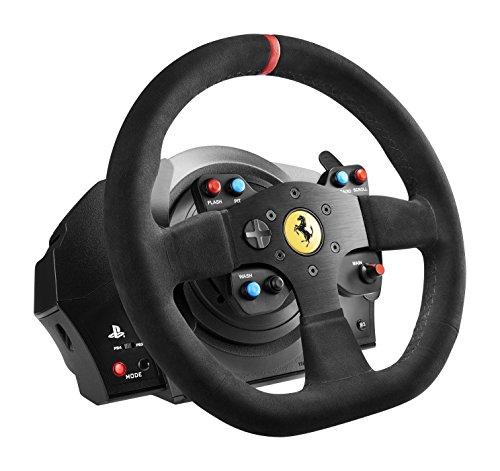 Thrustmaster T300 Ferrari Integral Alcantara Edition - Volante para PS4/PS3/PC, Force Feedback, 3 pedales, Licencia Oficial Ferrari