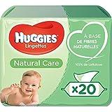 Huggies, Lingettes bébé, Pour tout le corps, À l'aloe vera, 20x56 lingettes, Natural Care