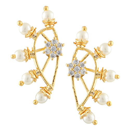 Archi Collection Jewellery White Ear cuffs Earrings for Girls and Women