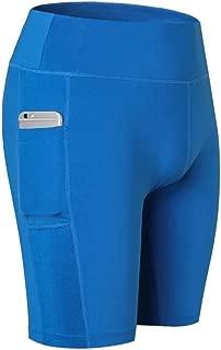 MzSnootie 女士瑜伽短裤,带手机口袋