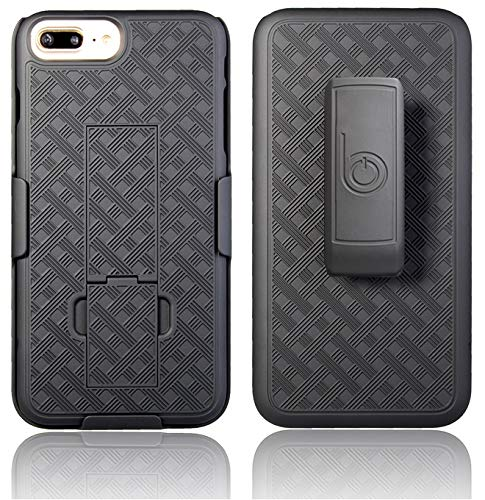 BELTRON iPhone 7/8 Plus Holster Case, Ultra Slim Protective Shell Grip Case & Swivel Belt Clip Holster Combo with Built-in Kickstand (iPhone 7 Plus & iPhone 8 Plus ONLY)