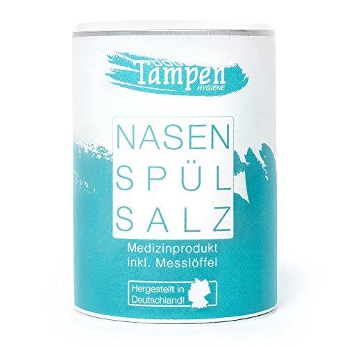 120x Nasenspülsalz (lose) · inkl. Messlöffel · 300g Nachfüllpackung XXL · Salz für die Nasendusche · Tampen Hygiene
