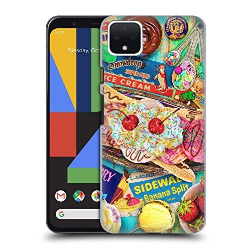 Officiële Aimee Stewart Banaan Split Kleurrijke snoepjes Hard Back Case Compatibel voor Google Pixel 4 XL