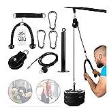 GJXJY Poleas Gimnasio para Casa, Fitness DIY Polea Cable Máquina de Musculacion Entrenamiento de Fuerza del Brazo Cuerda Triceps Accesorio de Entrenamiento para Antebrazos