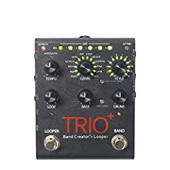 The TRIO+ is a simple-to-use guitar pedal that listens to the way you play and automatically generates bass and drum parts that match your song. Just plug your guitar into the TRIO+, press the Band footswitch to teach the TRIO+ your chords and rhythm...