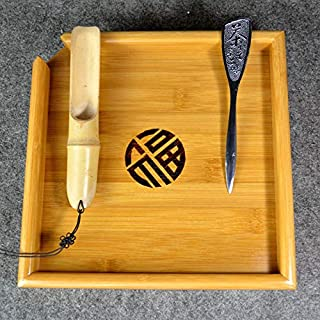Best Quality - Tea Trays - Natural kung fu Bamboo Tea Tray + Spoon + Knife Puer Tea Board set For Showing da hong pao Tea Ceremony Tools Accessories - by SeedWorld - 1 PCs