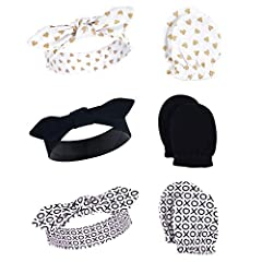 Set includes three headbands and three scratch mittens Made with 100% cotton Soft, gentle and comfortable on baby's skin Optimal for everyday use Affordable, high quality value pack