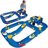 BIG Waterplay Niagara Blue Water track 130 x 90 x 22 cm with 3 boats, seaplane and 4 toy figures, 2 locks and hand crank...