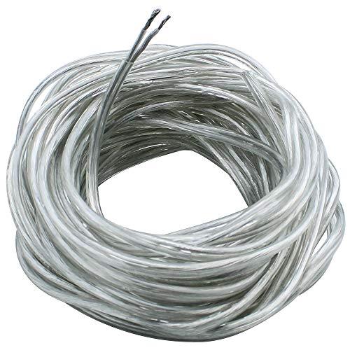 JaneYi 10 Meter Durchsichtig Draht 2 Kern Elektrischer Draht PVC Flexible Kabel 0,75 mm² Kupferkern Flachkabel Schneidbar Verlängerungskabel zum Einbau von Haushaltsgeräten mit Geringem Stromverbrauch