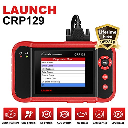 Launch CRP129 OBD2 Scanner Scan Tool ENG/AT/ABS/SRS EPB SAS OIL Service Light Resets Code Reader for...