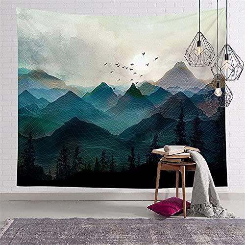 KBIASD Tapiz de decoración de Pared de Tela demontañas brumosaspara Dormitorio Sala de Estar Dormitorio Cortina 150X200CM