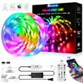 50ft LED Strip Lights, 50ft/15M Flexible Led Light Strip Color Changing 5050 RGB Led Strip with Bluetooth Remote App Controller,LED Rope Lights Strip Sync to Music for Home TV Party Bedroom Kitchen