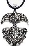 Collana Maschera Collana Pendente Tatuaggio tribale Kirituhi Nuova Zelanda Regalo per uomini Donne Viaggiatori Regalo di viaggio per donne e ragazze