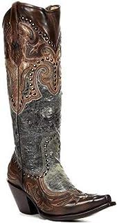 Womens ridder laarzen, puntige klinknagel borduurwerk etnische stijl hak vrouwen schoenen, Europese en Amerikaanse grote m...