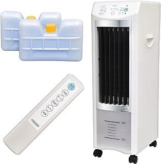 UP STORE 冷風扇 冷風機 冷風扇風機 リモコン AC電源 マイナスイオン発生 タイマー 抗菌加工 エアコンが苦手な方 省エネ 熱中症対策家電 (冷風扇 キャスター付き 3.8L)