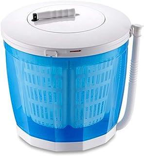 Bärbar tvättmaskin Utomhus Camping, Manuell Mini Tvättmaskin med automatiska avloppsmaskiner 2,5 kg, ingen ström krävs,Blu...