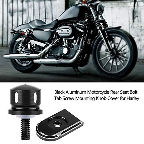 Perno de montaje del asiento de la motocicleta Tapón de rosca Aluminio negro Motocicleta Corte profundo Perno del asiento trasero Perno de la lengüeta Tornillo de la perilla de montaje Reemplazo de l