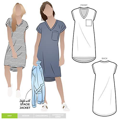 Style Arc Schnittmuster – Richie Strick-Tunika-Kleid (Größen 04–16)