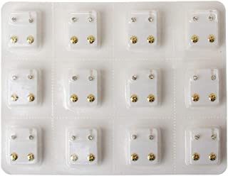 SimpleLife 12 Coppie Kit di Strumenti per Pistola penetrante orecchino Set di Orecchini a Bottone Ipoallergenico Mini 3mm ...