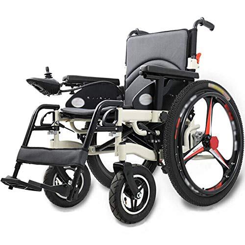 YXZQ Silla de Ruedas, Plegado eléctrico motorizado s, Potente Motor Dual Ligero, Solo 37 kg, Servicio Pesado, Motor Doble Plegable eléctrico para Personas Mayores discapacitadas