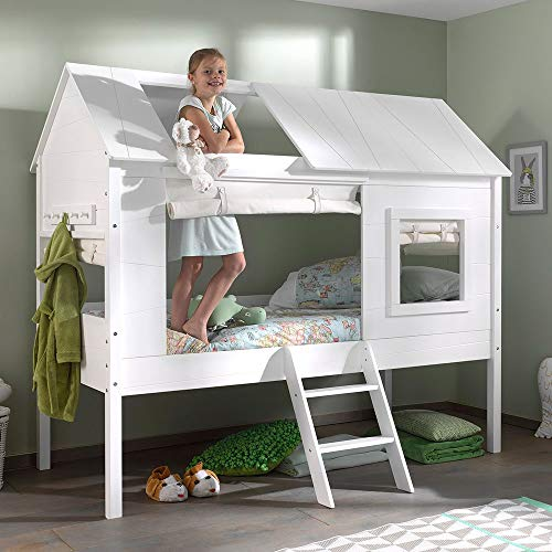 Vipack Charlotte Baumhausbett Kinderbett Hochbett Weiß