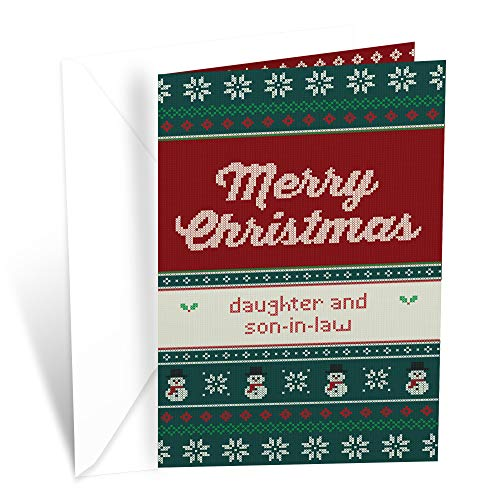 Prime Greetings Christmas Card For Daughter and Son In Law