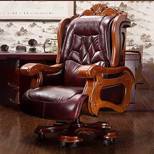 ZSAIMD Ejecutiva silla de oficina, silla del jefe moderna ajustable ergonómica Silla giratoria de ordenador respaldo alto, PU de oficina de cuero Escritorio Silla Silla de ordenador Silla de oficina g