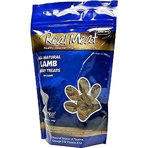 The Real Meat Company 828010 Dog Jerky Lamb Treat, 12-Ounce