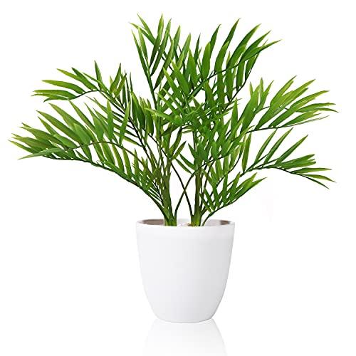 SOGUYI Plantas Artificiales 40cm Areca Palma Pianta Adecuado para Plantas Artificiales de Interior al Aire Libre para Oficinas en el hogar, Hoteles, Decoraciones Modernas