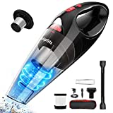 Hand Vacuum Cordless, Handheld Vacuum Cleaner Rechargeable with Strong Suction for Home and Car Cleaning