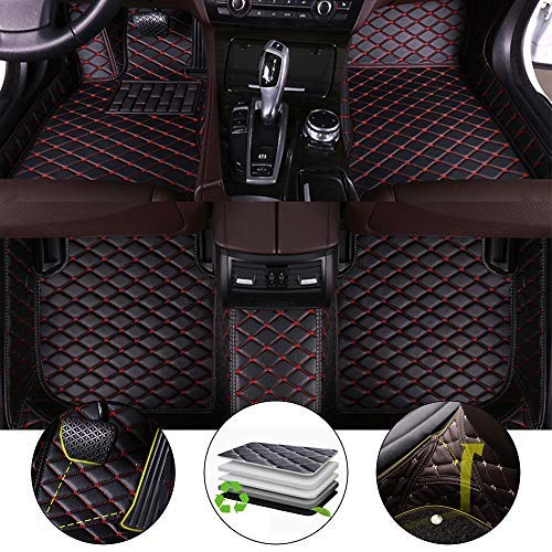 for Bentley Continental GT 2012-2017 Floor Mats Full Protection Car Accessories 3 Piece SetBlack & Red