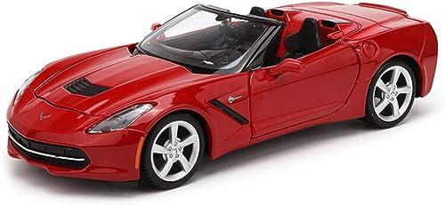 ZEQUAN voitures modèle moulé, Modèle de Voiture 1 24 Chevrolet Convertible en Alliage de Simulation moulé sous Pression Jouet OrneHommests décoratifs ( Couleur   rouge )