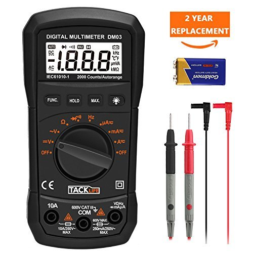 TACKLIFE DM03 Auto Ranging Multi Tester