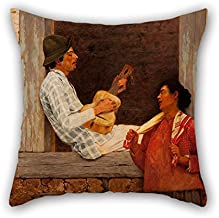 Bestseason 18 X 18 Inches / 45 By 45 Cm Oil Painting Almeida Júnior - The Guitar Player Throw Pillow Case,2 Sides Is Fit For Christmas,bench,divan,monther,club,deck Chair