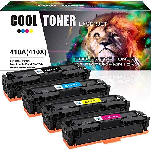 10 PK CF410X Toner Cartridge Black for HP LaserJet Pro MFP M477fdn M452dw M452nw