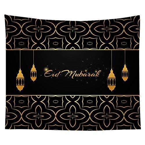 KHKJ Tapiz de Mubarak Eid Adha Mubarak Ramadán decoración islámica Musulmana Fiesta decoración Suministros favores Tapiz para el hogar A16 200x150cm