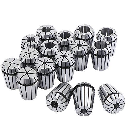 Hseamall 16-teiliges Spannzangen-Set, ER25 Spannzange, 1–16 mm Halterung, ER25 Federzangen-Set für CNC-Arbeitshaltung, Gravieren und Fräsen Drehmaschine Werkzeug