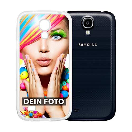dP deinPhone Samsung Galaxy S4 Mini - Handyhülle - Selbst gestalten/Individuell bedruckbar/eigenem Foto oder Text/Silikonhülle Transparent