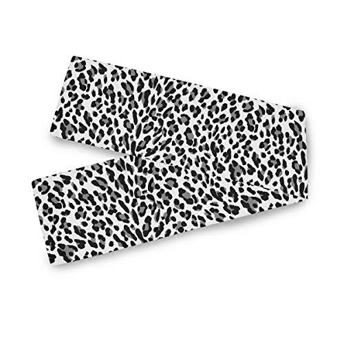 TropicalLife F17 - Camino de mesa rectangular, diseño de leopardo, 33 x 228,6 cm, poliéster, para decoración de boda, cocina, fiesta, banquete, comedor, hogar, mesa de café