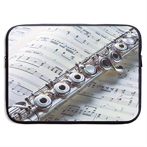 Wasserdichte Laptop Hülle Musikinstrument Flöten Druck Geschäfts Aktenkoffer Schutztasche Computer Kasten Abdeckung 15×11.4 Zoll