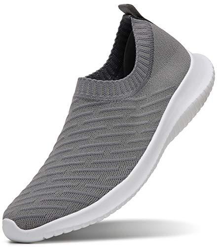 Zapatillas de Deporte MAIITRIP Sock para Mujer Slip on Walking Tennis Running Work Ligero Comfort Nurse Mesh Flats Zapatos Antideslizantes Snickers Trainer Training Gray Grey Size 5
