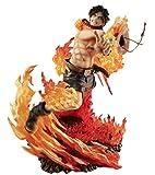 ymdmds High 25cm One Piece Fire Fist Puño Ace Boxed Sculpture Modelo de Regalo Ilustraciones Anime...