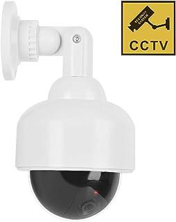Cámaras simuladas Cámara de seguridad de vigilancia simulada CCTV a prueba de agua con forma de cúpula a prueba de agua con LED intermitente