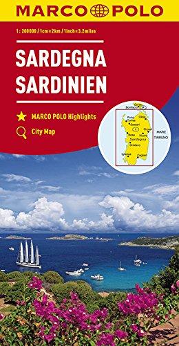 Marco Polo Sardinië 15: Wegenkaart 1:200 000