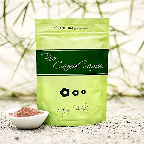 VivaNutria Bio Camu Camu Pulver 1000g I Camu Camu Vitamin C Pulver hochdosiert I Camu-Camu als Superfood Pulver für Smoothies Shakes Müslitopping uvm. I natürliches Vitamin C I vegan