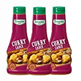 DEVELEY 3er Saucen Bundle, 3*250ml, Curry Sauce, Squeeze-Flasche, Curry Dip
