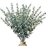 CEWOR 6pcs 29 Inches Tall Artificial Eucalyptus Stems Faux Eucalyptus Branches Greenery Plants for Wedding Party Vase Floral Arrangement Decor