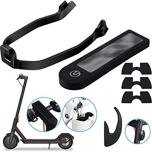 Amailtom 6 Piezas Accesorio de Repuesto de Scooter Incluye Gancho Frontal,Soporte de Guardabarros,Amortiguadores de Vibraciones de Goma,Cubierta de Protección de Energía para Xiaomi M365/Pro Patinete