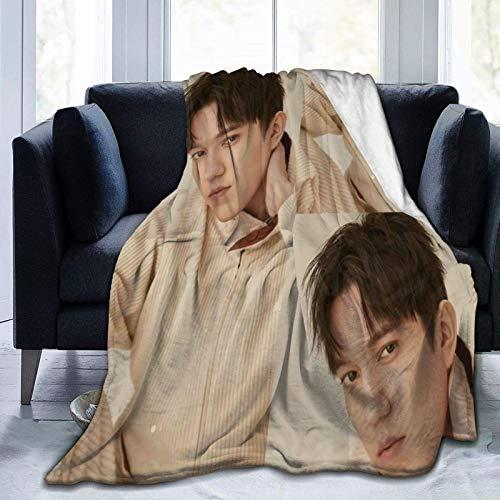VJSDIUD Dimash Kudaibergen Mantas Mantas de Microfibra Manta de Microfibra Ultra Suave Manta de Forro Polar para decoración del hogar Manta de sofá (80 'x 60')