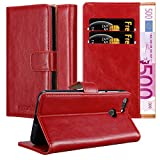 Cadorabo Book Case works with ZTE BLADE V9 in WINE RED -